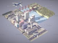 AE模板:未来风格全息科技建筑3D动画展示