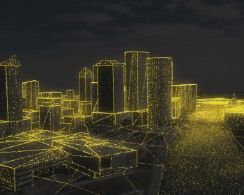 抽象粒子城市房地产漫游动画C4D教程 Cinema 4D – Creating a Particle City Reveal Tutorial