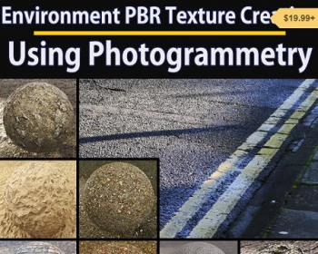 PBR真实环境贴图渲染教程(英文PDF) Gumroad – Guide for Environment PBR Texture Creation using