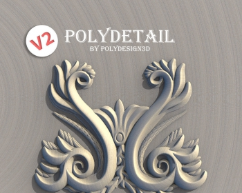 3DS MAX装饰花纹雕刻插件 PolyDetail – Ornament Plugin for 3ds Max