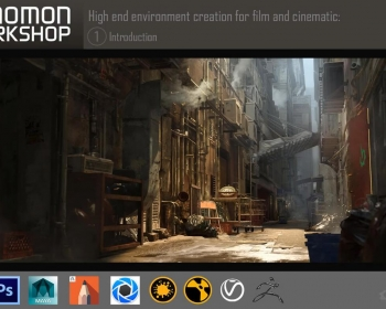 Maya+Zbrush电影环境场景制作教程 The Gnomon Workshop – Environment Creation for Film and Ci