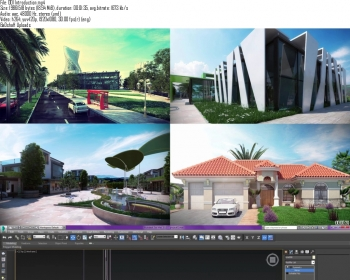 3dsmax林中房屋建筑可视化视频教程 Learn 3ds max and vray Making of House in the Forest