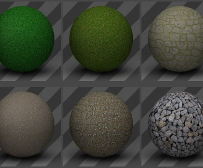 C4D地面材质预设6 (6个) Ground Textures 06